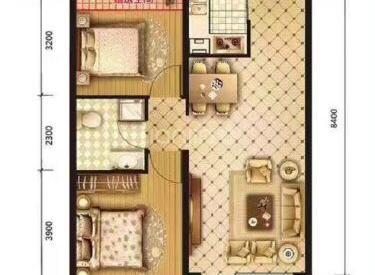 盛世园田居 2室 2厅 1卫 南北标准 园区中心 认筹中