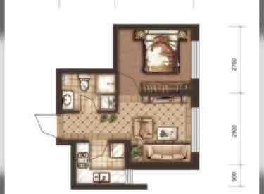 宏发·英里 1室1厅1卫38.00㎡