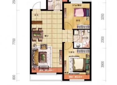 万锦红树湾 2室2厅1卫87㎡