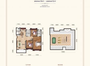 宝能水岸康城 3室 2厅 1卫 108.00㎡