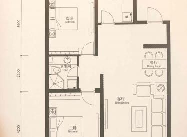 宏发英里 2室2厅1卫95.68㎡