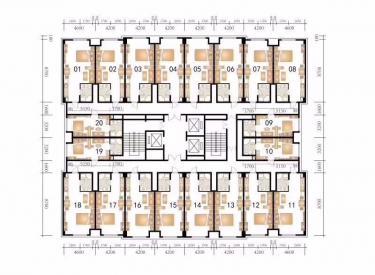 万隆商业广场 1室 1厅 1卫 49.41㎡