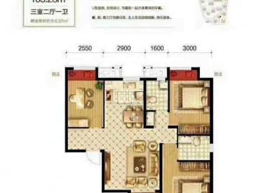 荣盛城 3室2厅1卫103㎡
