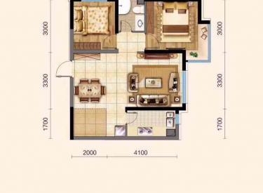 太湖明珠花园 2室1厅1卫69㎡