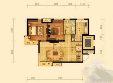 经典生活  2室 1厅 1卫 安静不吵 学区房 大面积
