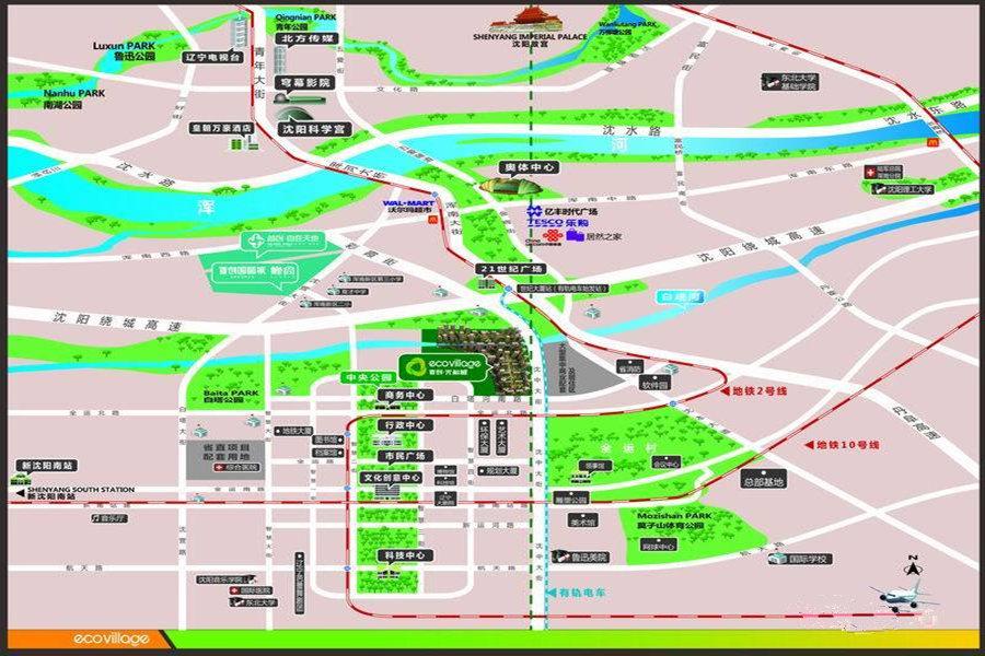 首创·光和城区位图