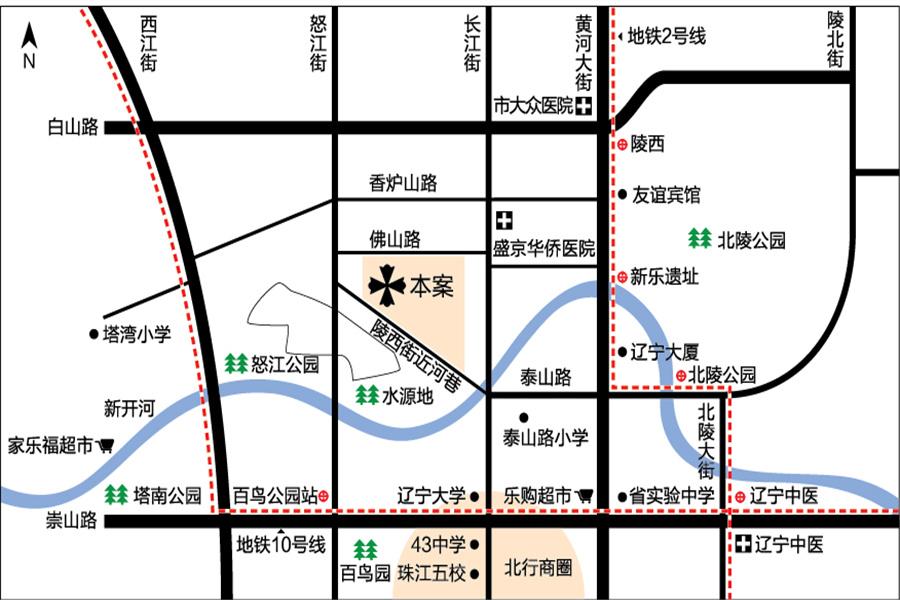 汇邦克莱枫丹区位图