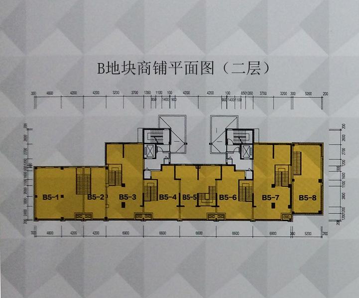 城市之光B地块商铺平面图(二层)
