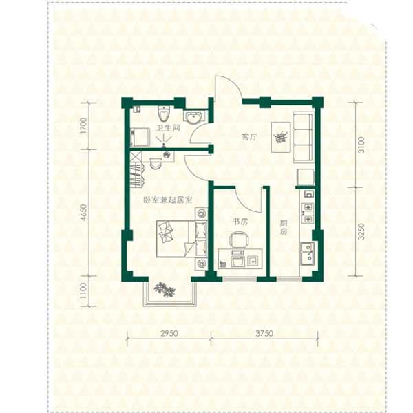 51㎡2室1厅1卫