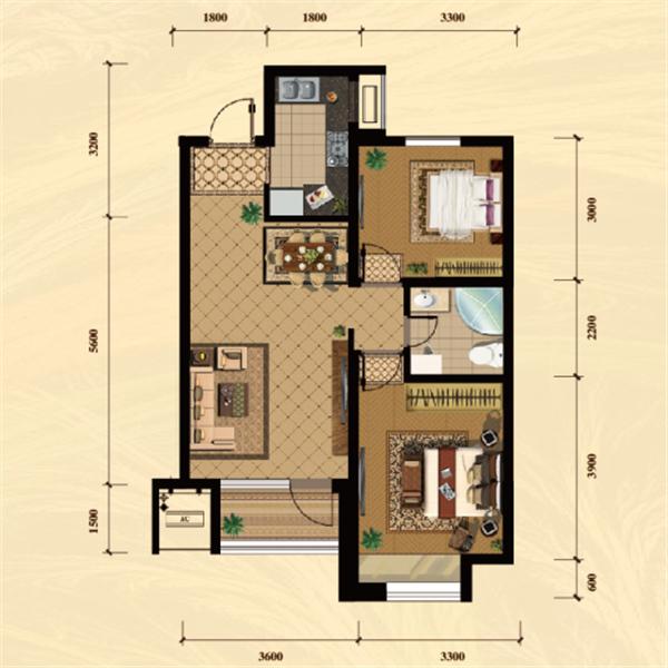 农村单排小二楼设计图
