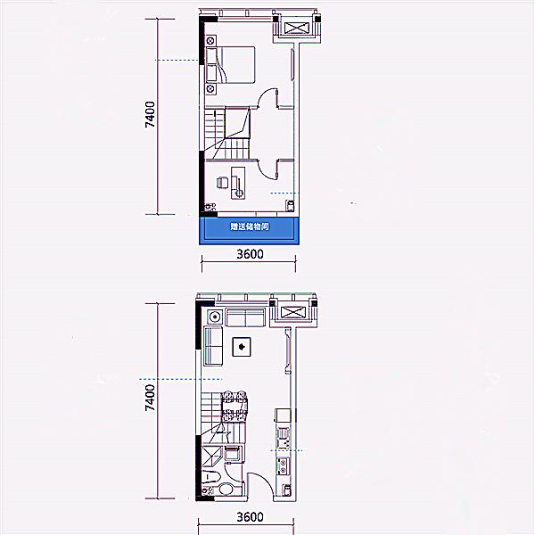 公寓36平2室2厅1卫
