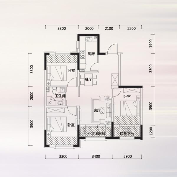 一厅正方形房子设计图  一楼长方形房子设计图 宽1150×1600高 户型