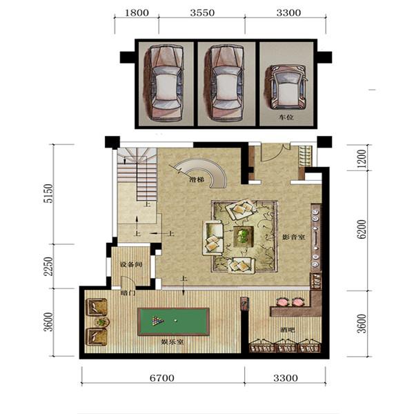三叠院108平户型负一层