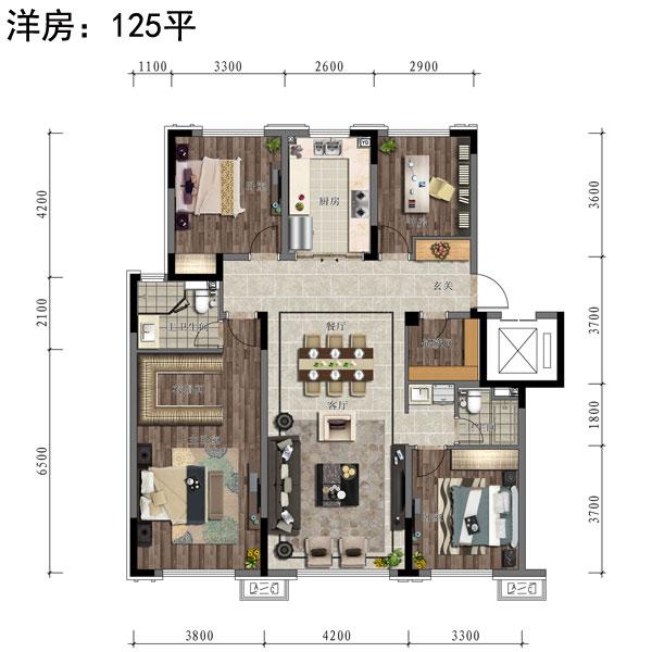 125㎡4室1厅2卫