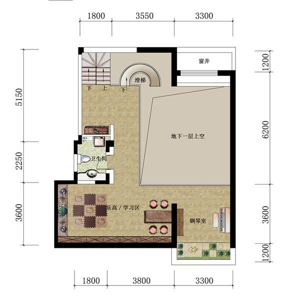 三叠院130平户型夹层