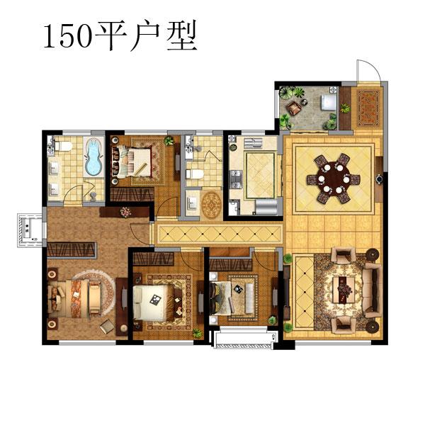 150㎡4室2厅2卫