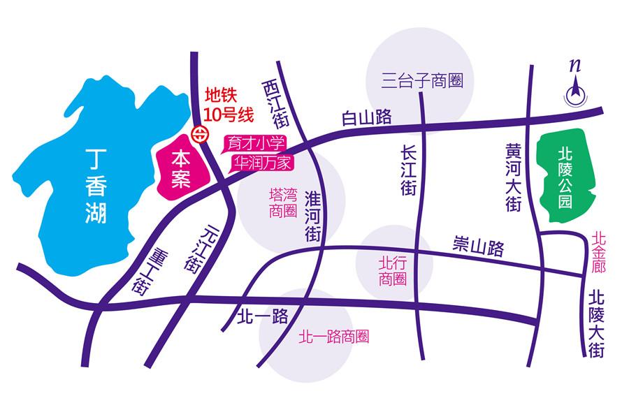 广厦绿园交通图