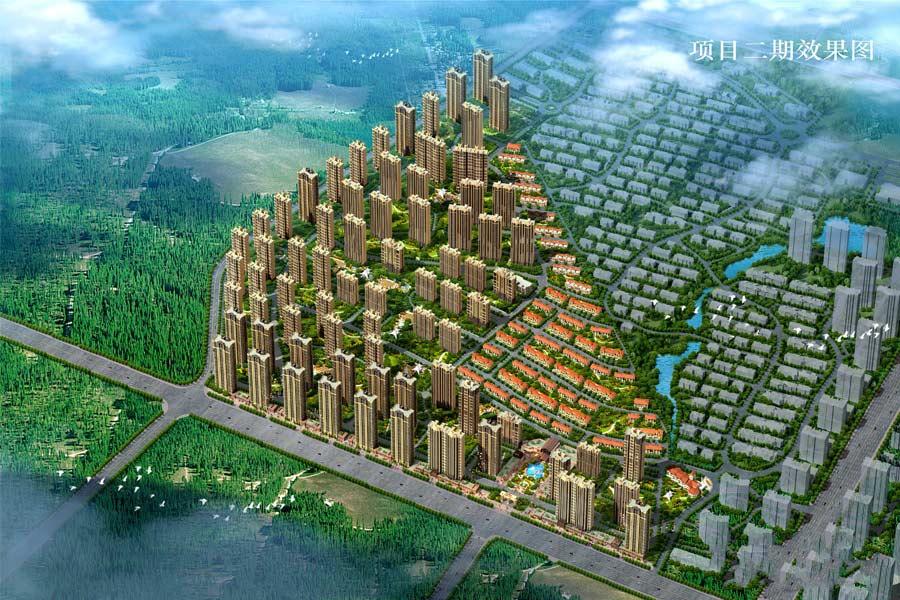 碧桂园凤凰城二期鸟瞰图