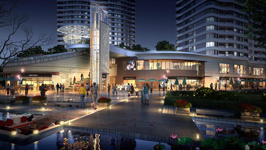金地·棕榈岛项目效果图-商业街