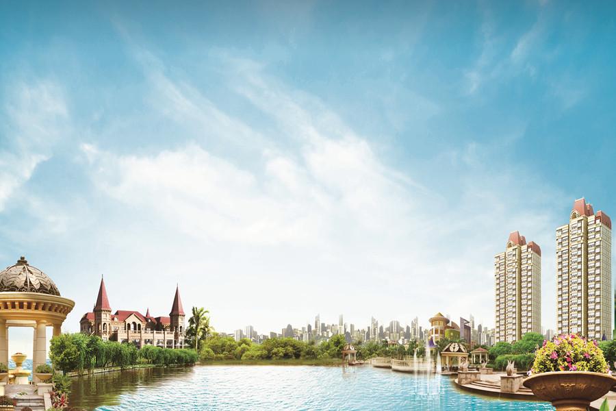 恒大盛京印象园区景观效果图
