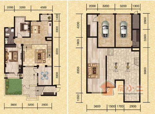 面积区间100-160平,户型从两室两厅一卫到四室三厅二卫,百分百满足