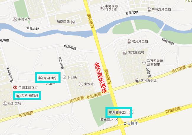 沈阳鑫时代置业有限公司以3.4亿进驻长白岛 购得金沙湾东地块