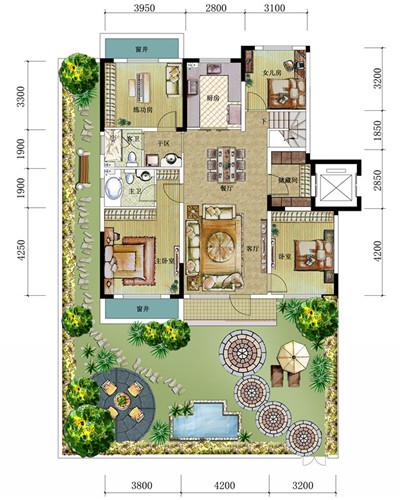 设计图分享 90平方自建平房设计图  农村自建房设计图,能挣钱的三层