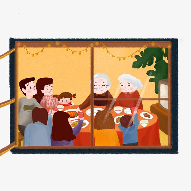 发现春节之美手绘图片