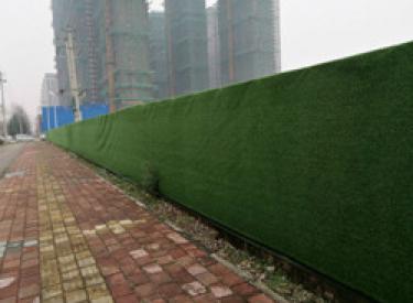 沈阳施工现场变风景:绿篱围挡