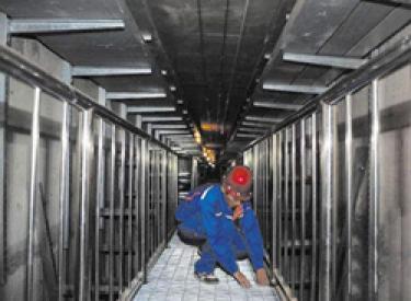 地铁四号线两车站已完成主体结构施工