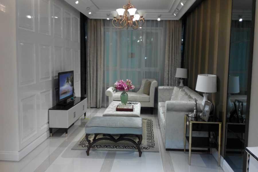 76平两室两厅一卫客厅