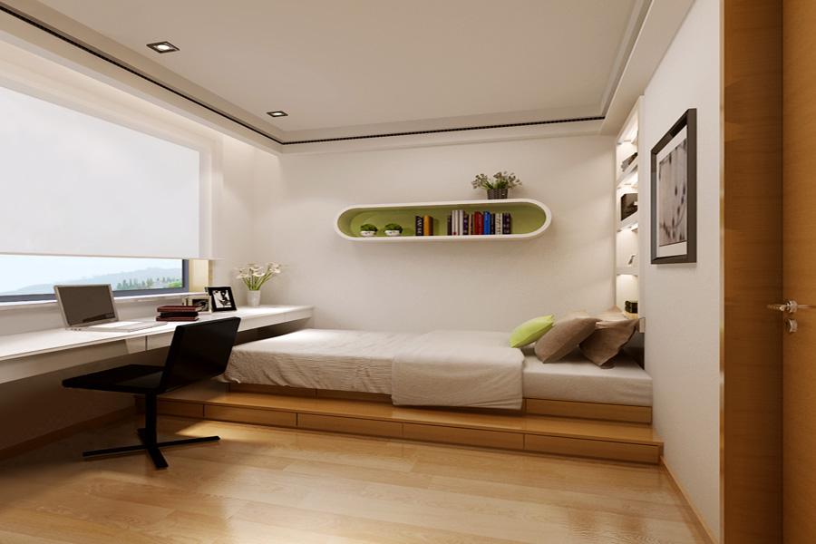 高层67平两室一厅一卫书房