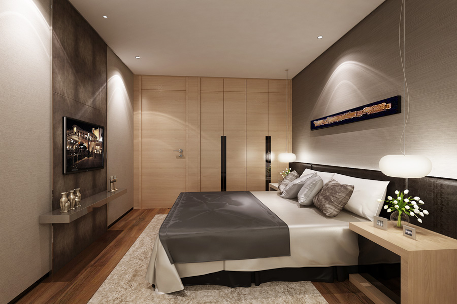 高层109平三室两厅一卫卧室