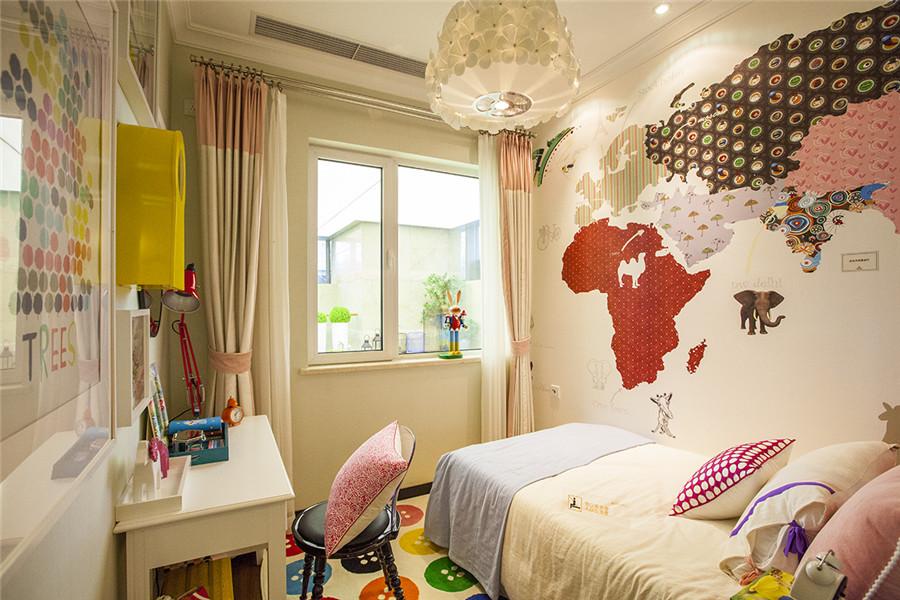 高层85平三室两厅一卫户型儿童房