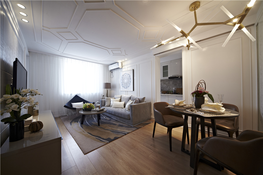 68平二室二厅一卫客厅