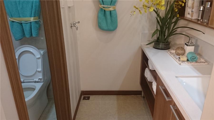 110平3室2厅1卫卫生间样板间