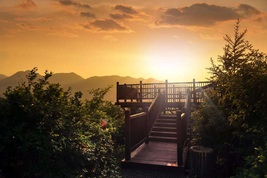 山顶观景平台实景图