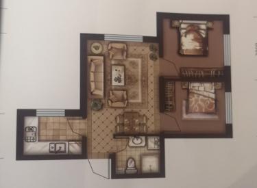 宏发英里蓝湾 2室2厅1卫60㎡
