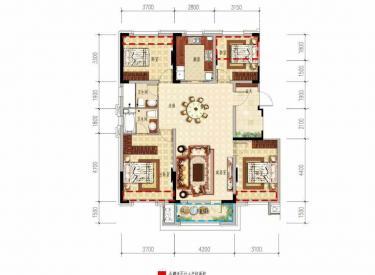 浑河岸七中旁孔雀城洋房珍藏版 4室2厅2卫128㎡