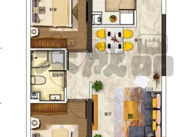 七中旁浑河岸孔雀城高层 2室2厅1卫78㎡