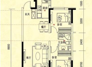 中海康城 2室 2厅 空间大 装修齐全 交通方便
