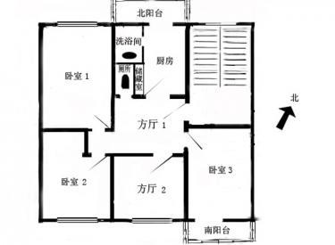 西塔小区 4室 1厅 1卫 112㎡