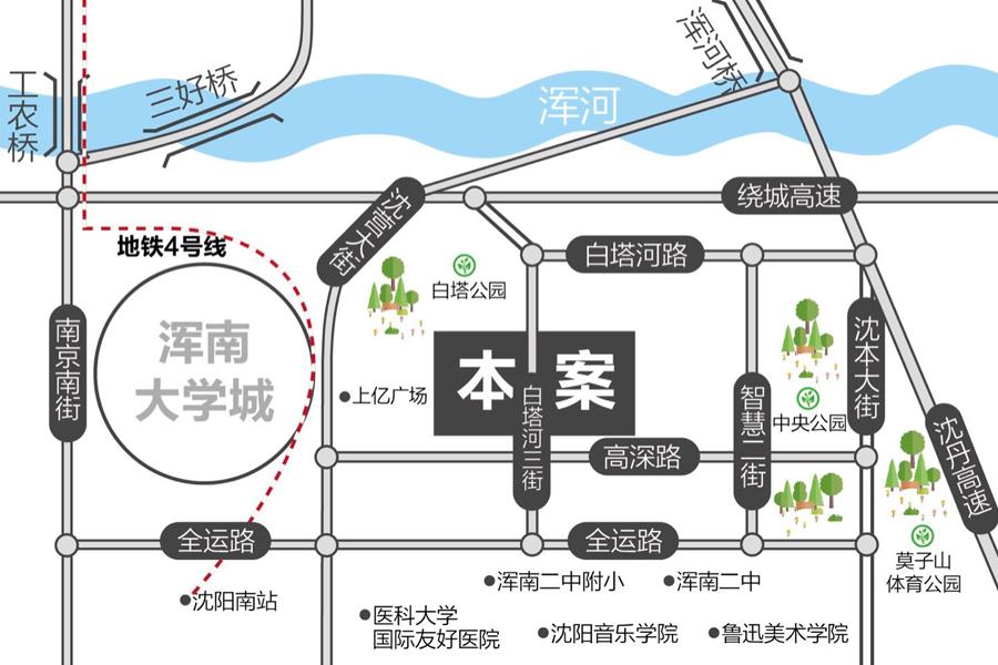 信达·万科城区位图