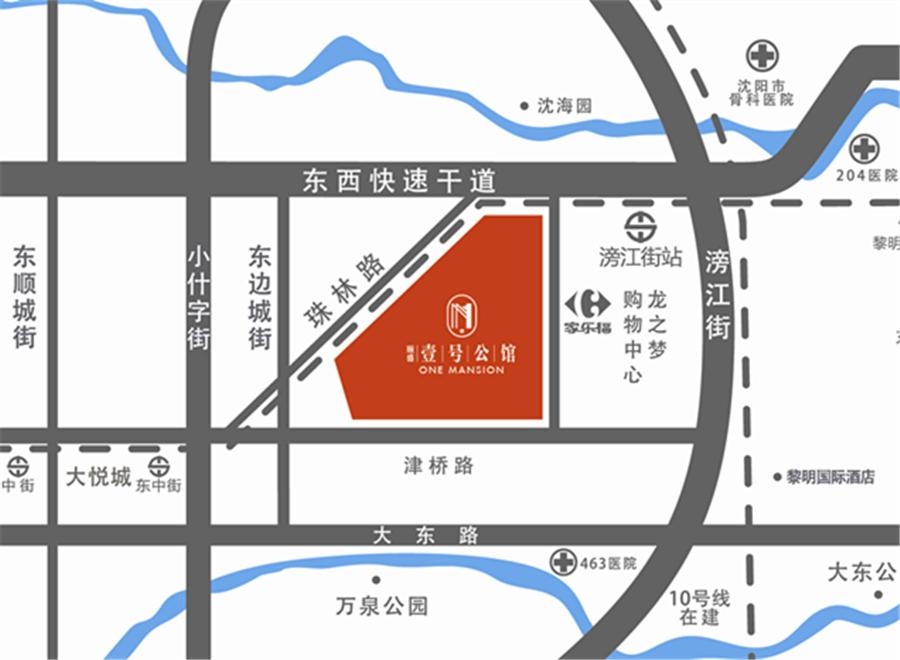 颐盛壹号公馆区位图