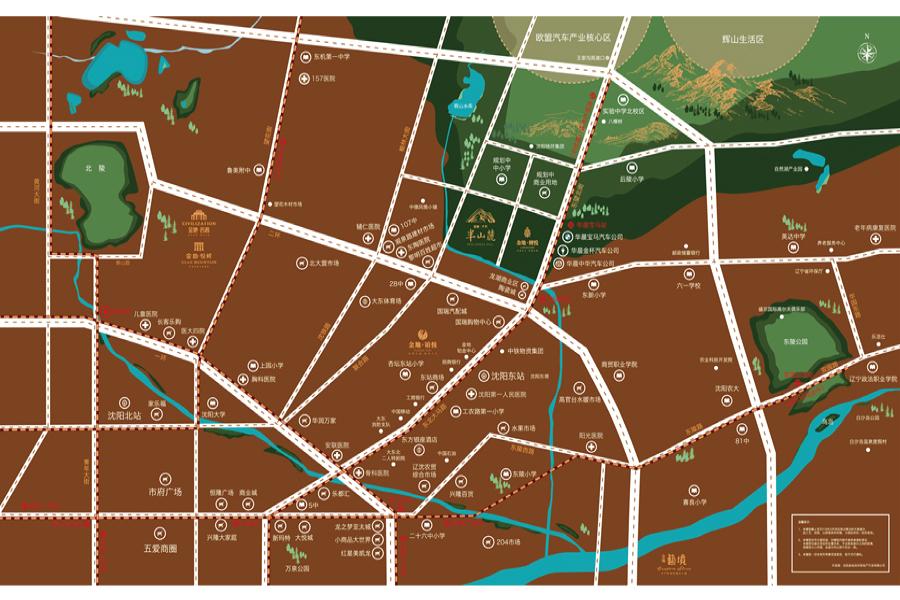 金地·悦城大境区位图