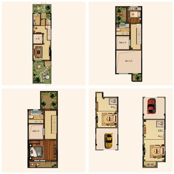 金地艺境2室3厅3卫建筑面积约为130㎡
