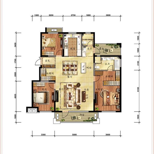 152平3室2厅2卫