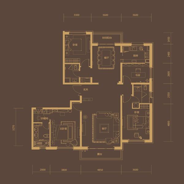 217㎡4室2厅3卫