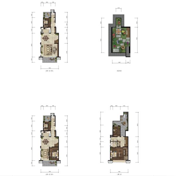 龙湖·天璞4室2厅3卫建筑面积约为142㎡