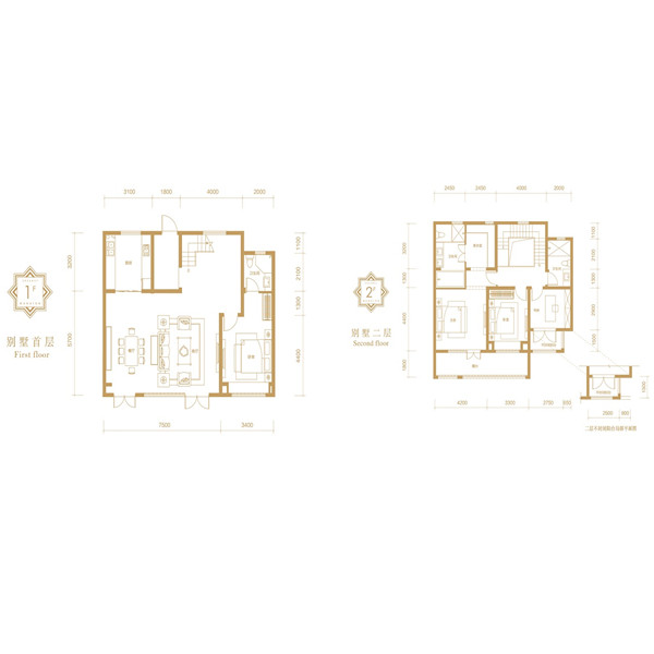 融创·融公馆4室2厅3卫建筑面积约为190㎡